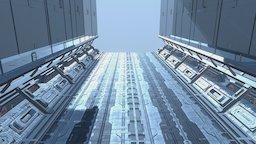 SF Glass Corridor 3D Model