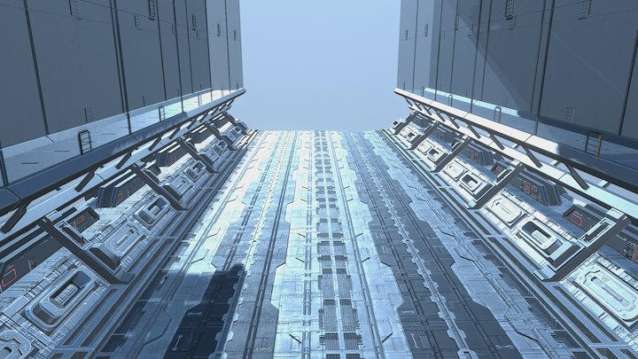 SF Glass Corridor 3D Model