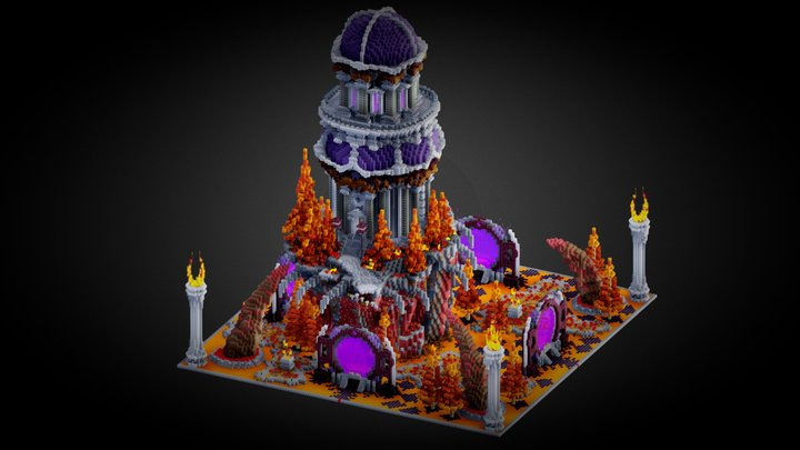 Minemen Club - Nether Spawn 3D Model