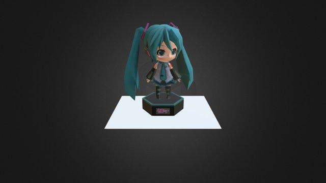 Hatsune Miku (Chibi) w/ Stand 3D Model