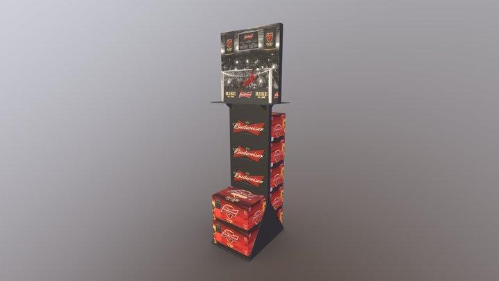 Budweiser FWC Case Stacker Standee 3D Model
