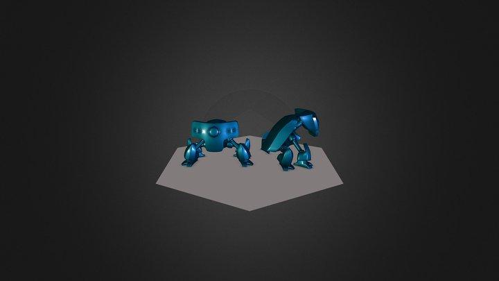 Pixel-Bot 3D Model