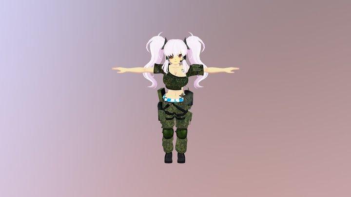 Аниме солдат для VRCHAT 3D Model