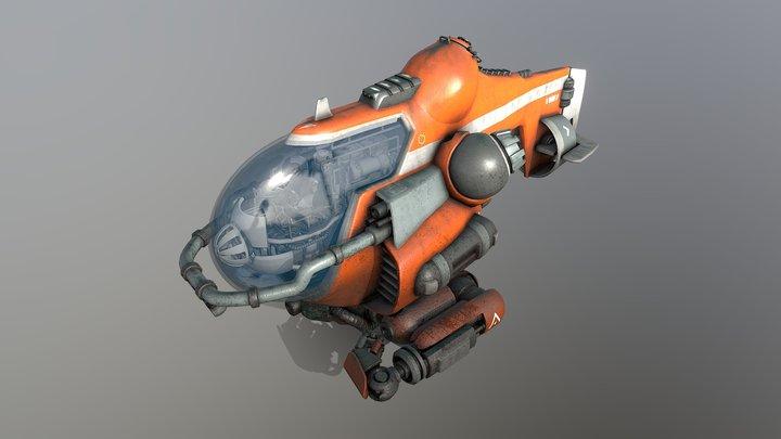 Exploration Submarine 3D Model