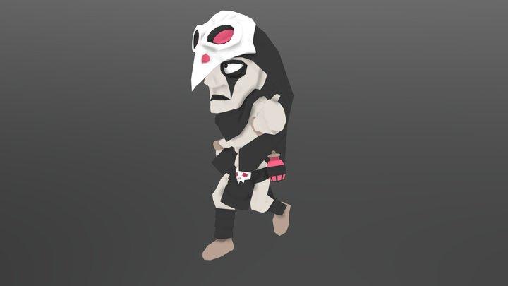 Crow - Running 3D Model