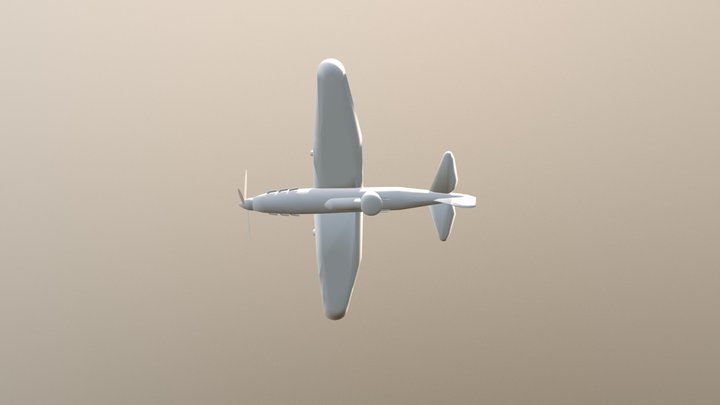 Airplane 0007 Off 3D Model