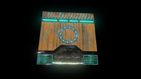 Une texture de la porte 3D Model