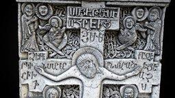 Armenian Khachkar Stone Memorial 3D Model