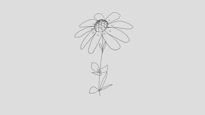 Wild Sunflower 3D Model