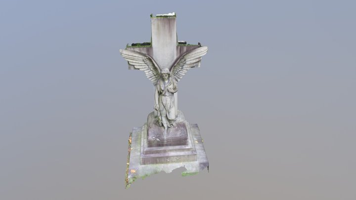 Stone Angel, Mt. Hope Cemetery, Rochester, NY 3D Model