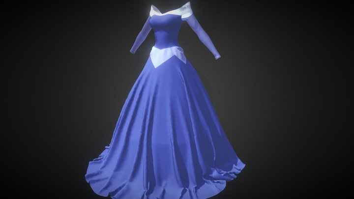 Aurora Dress from Sleeping Beauty 3D Model