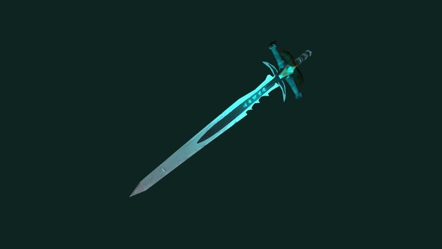 Frostmourne - the sword of Lich-King 3D Model
