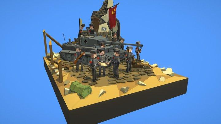 World war 2 diorama 3D Model