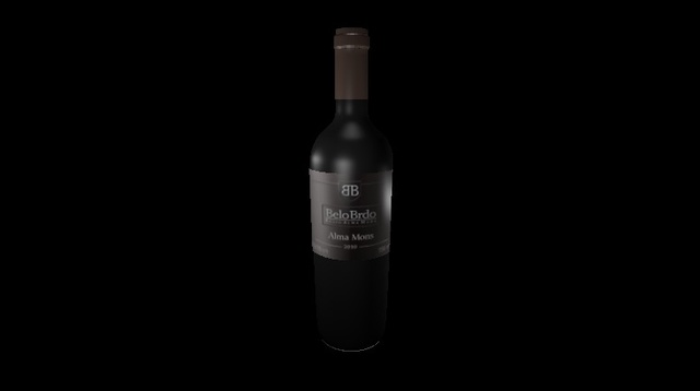 wine bottle alma mons 3D Model