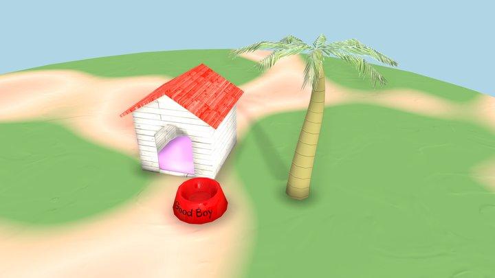 Tropical Dog House 3D Model