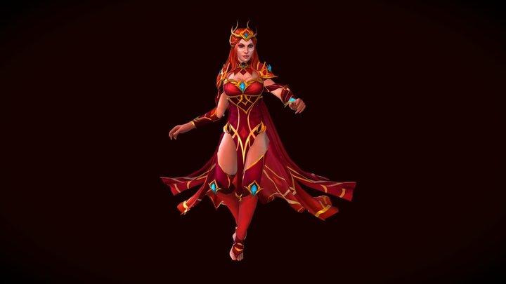 Lina Queen of Misrule Dota Set 3D Model