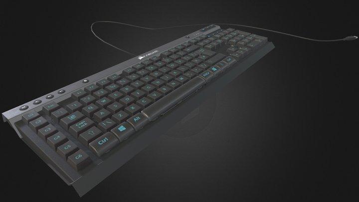 Corsair K40 Keyboard 3D Model