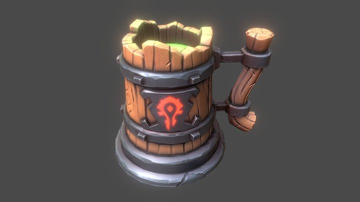 Stylized Beer Mug 3D Model
