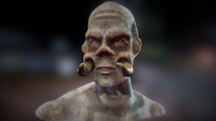 Mutant Bust 3D Model