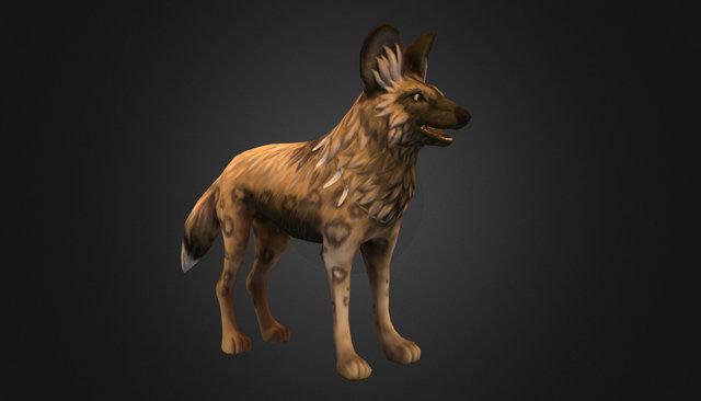 Desert Dog 3D Model