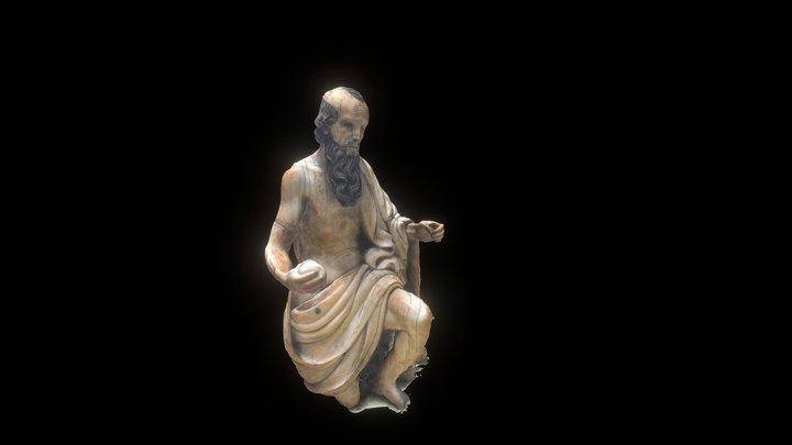 17th Century St. Jerome Ivory 3D Model
