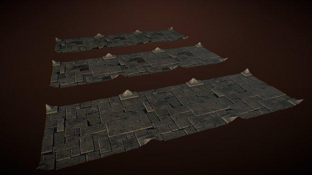 Material - Floor Rocks 3D Model