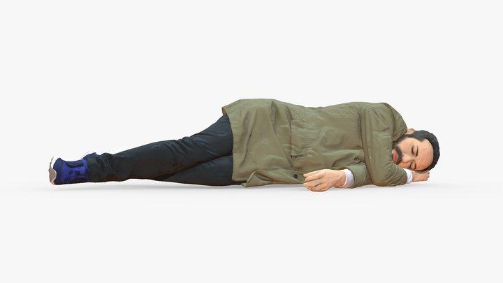 Lying man 0127 3D Model