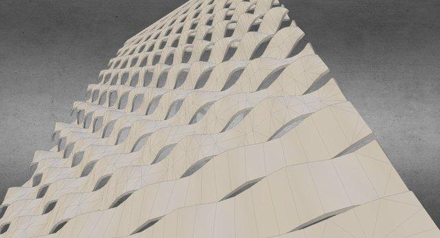 Curvy louvres 3D Model