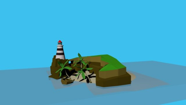 lighthouse island 3D Model
