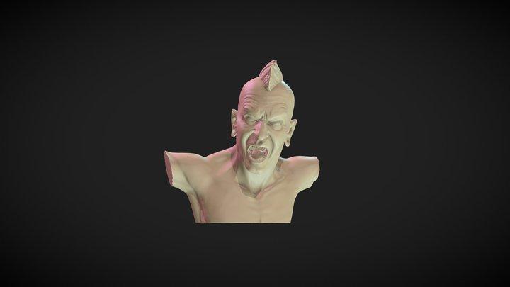Punky drummer 3D Model