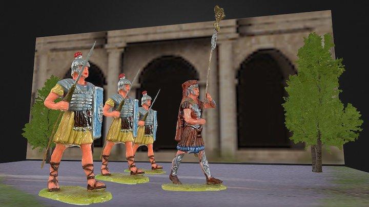 Elastolin diorama romans (with sound) 3D Model