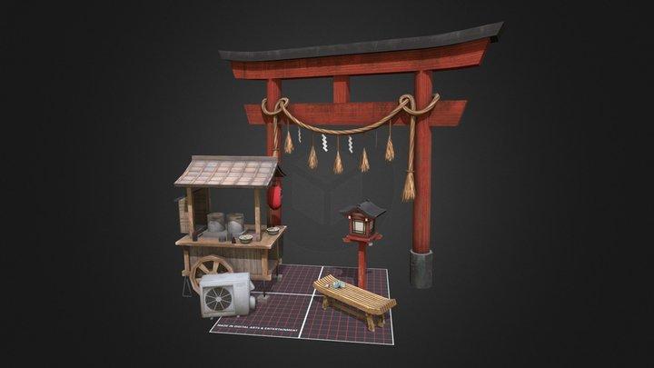 1DAE05 Veerle Zandstra - Kyoto Props Q-Week 3D Model
