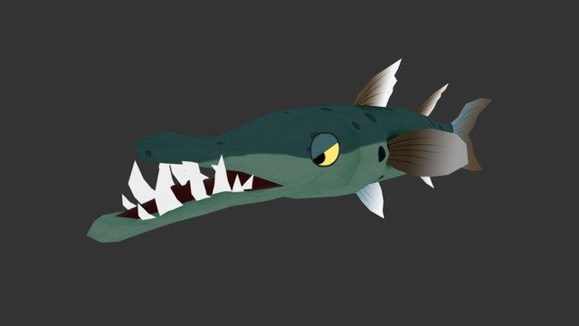 Cartoon Barracuda 3D Model