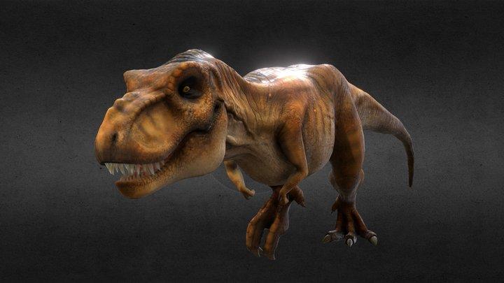 Tyrannosaurus of Jurassic Park (Rigg & Animated) 3D Model