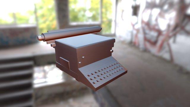 Typewriter. 3D Model