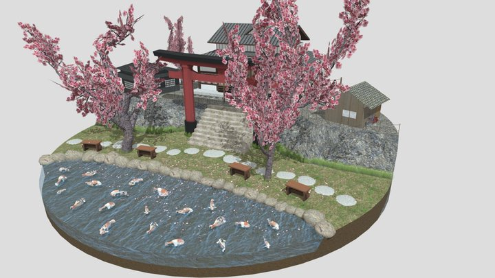 Kyoto Cityscene 3D Model