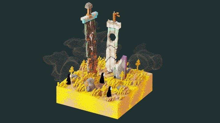 Swords - Minecraft building 3D Model