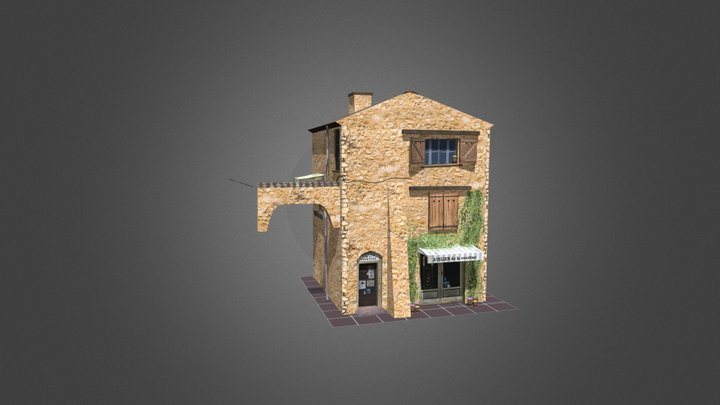 House1_SecondVersion_City_Scene 3D Model