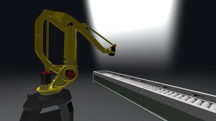 Fanuc Palletizing Operation WIP 3D Model