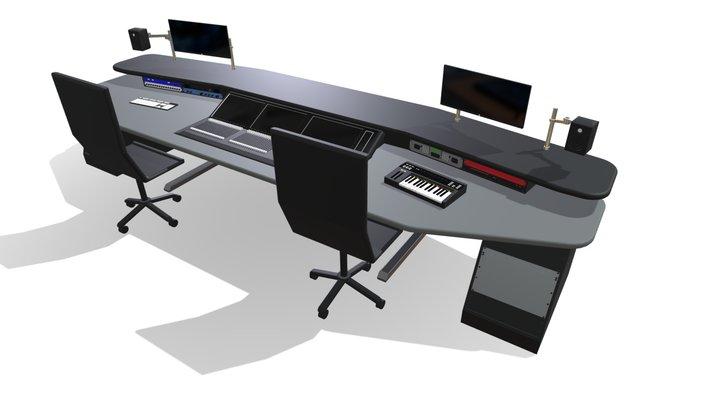 Audio Production Desk 3D Model