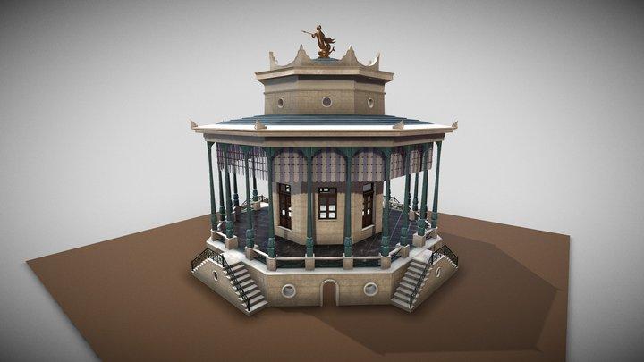 Ermoupoli Municipal Cafe 1850s 3D Model