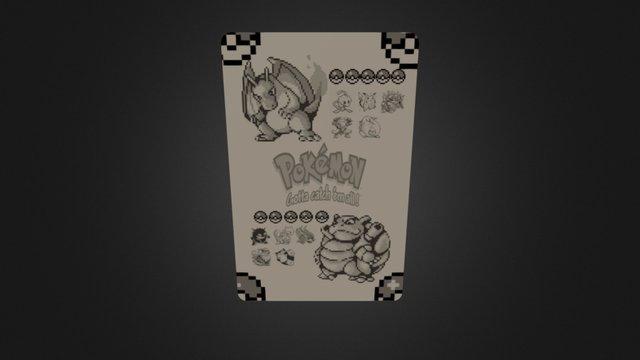 pokemon cardback 3D Model