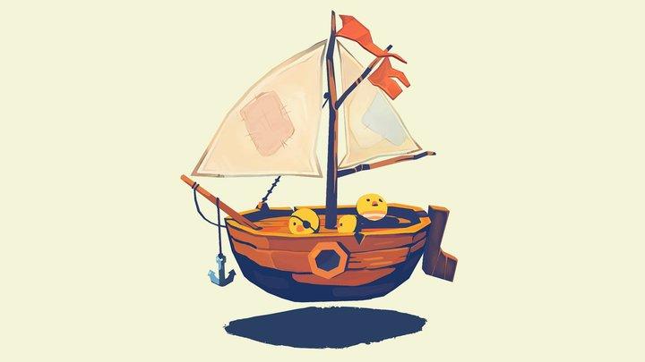 Pirate peeps! 3D Model