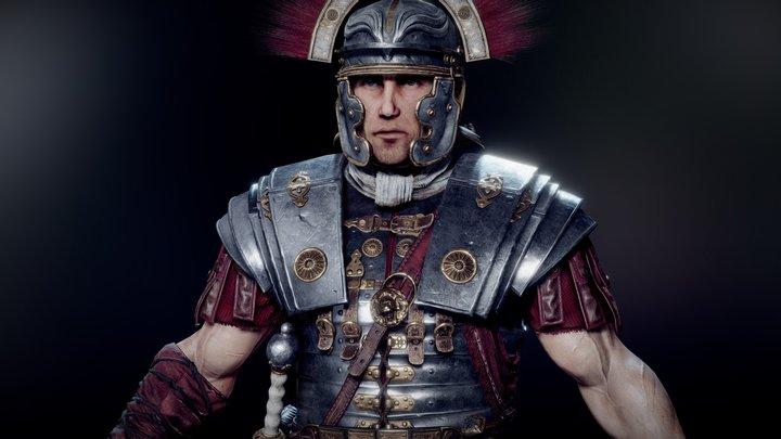 Roman Centurion Evocatus 3D Model