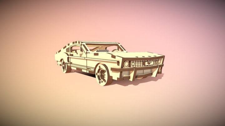 Ford Mustang (cutting laser) 3D Model
