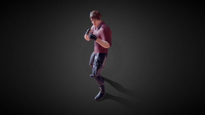 Beat Em Up Characters 3D Model