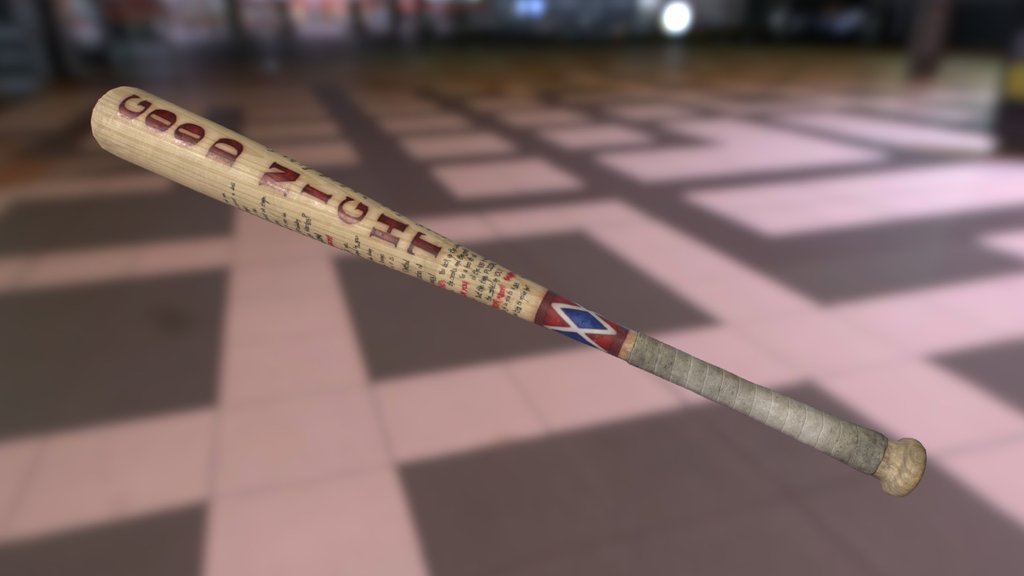 Harley Quinn S Good Night Baseball Bat Download Free 3d Model By Yogensia Yogensia 73a6016 Sketchfab