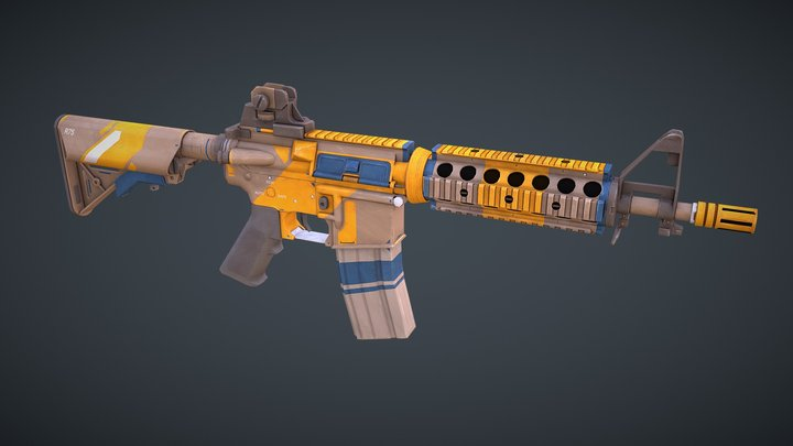 M4 CQB Weapon 3D Model