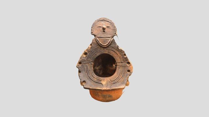 顔面付釣手形土器(伊那市富県御殿場遺跡) 観察記録3Dモデル 3D Model