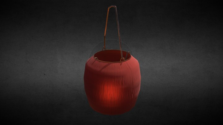 Old Chinese Lantern - lowpoly for free download 3D Model